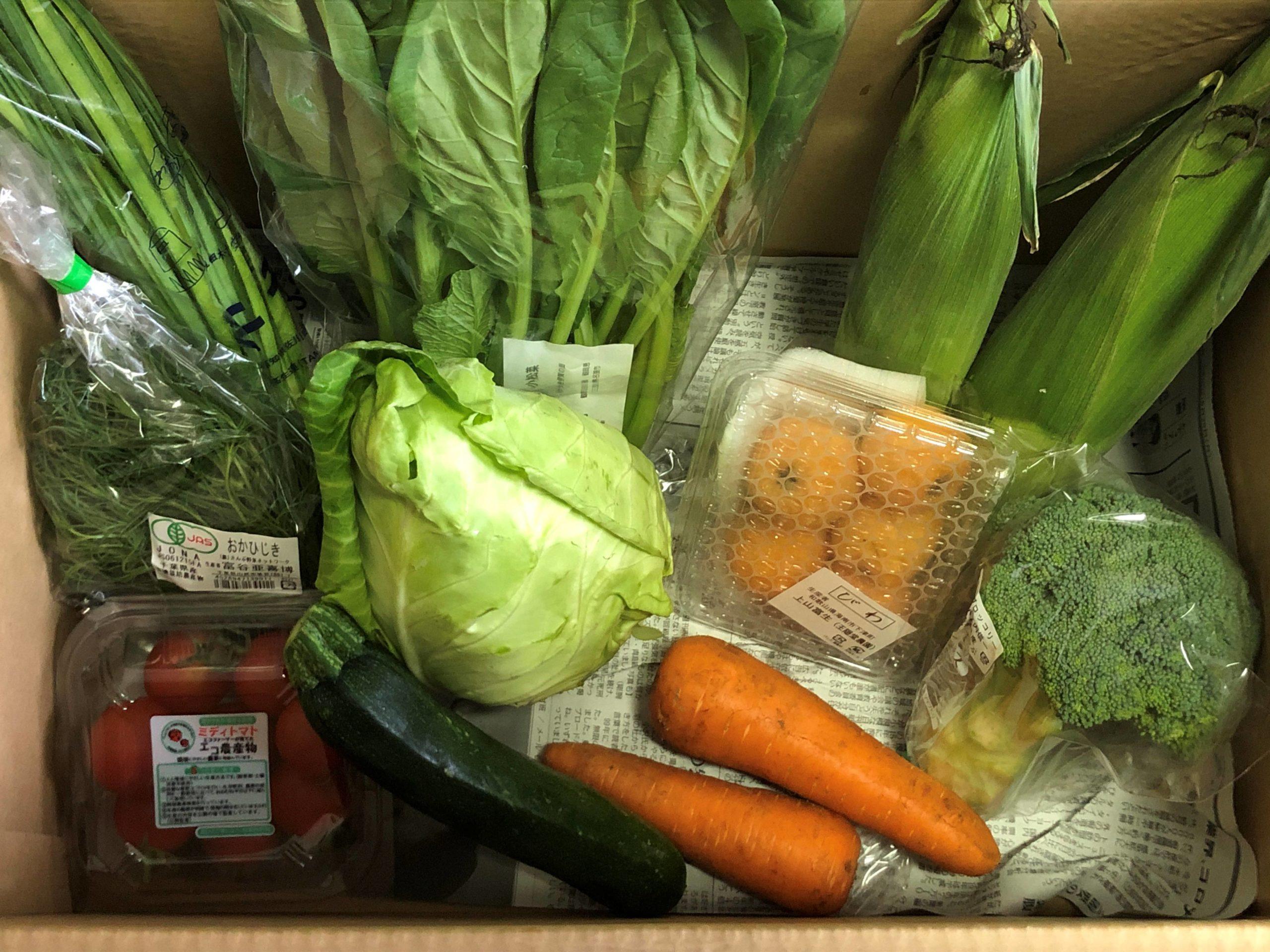 新鮮な宅配野菜