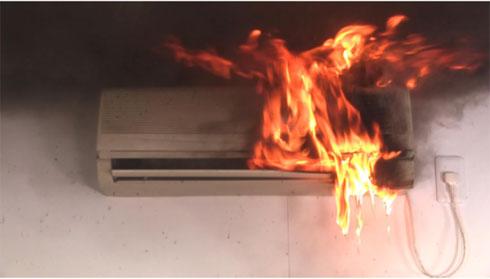 エアコン火災事故